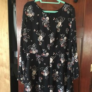 LOFT PLUS WILDFLOWER FLOUNCE DRESS size 16
